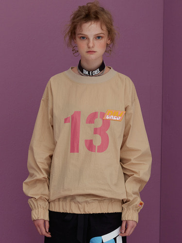 [70%]NUMBER 13 BLOUSE SWEATSHIRTS_BEIGE