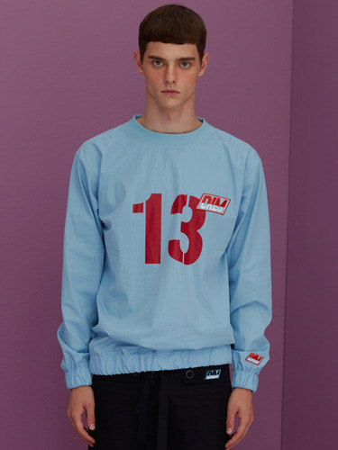 [70%]NUMBER 13 BLOUSE SWEATSHIRTS_SKY BLUE
