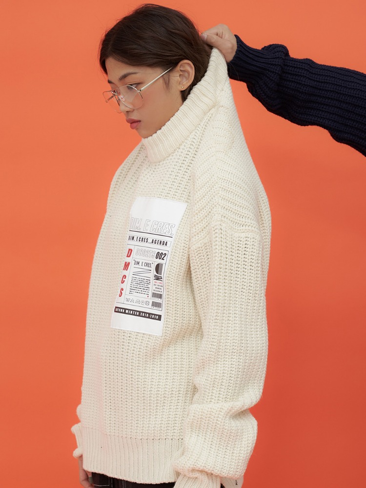 [30%]HISTORY PATCH BULKEY KNIT_IVORY