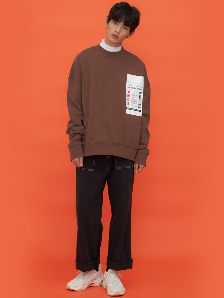 DIM. E CRES. HISTORY PATCH SWEAT-SHIRTS_BROWN
