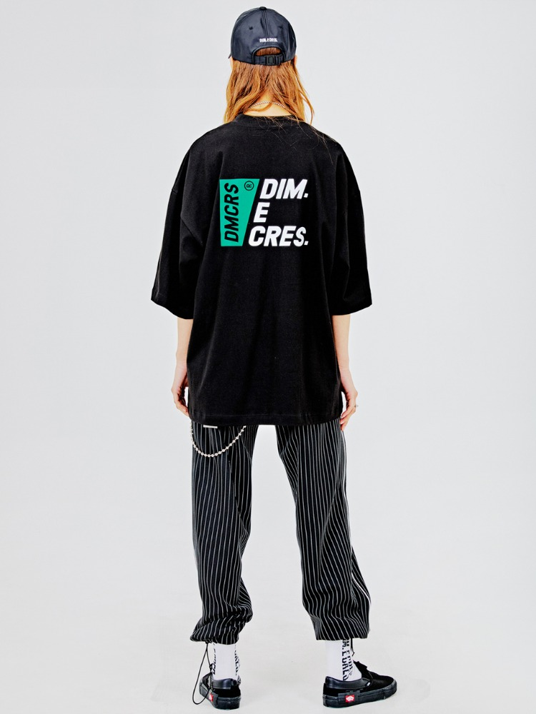 [20%]DMCRS boarding graphic T-shirts_black
