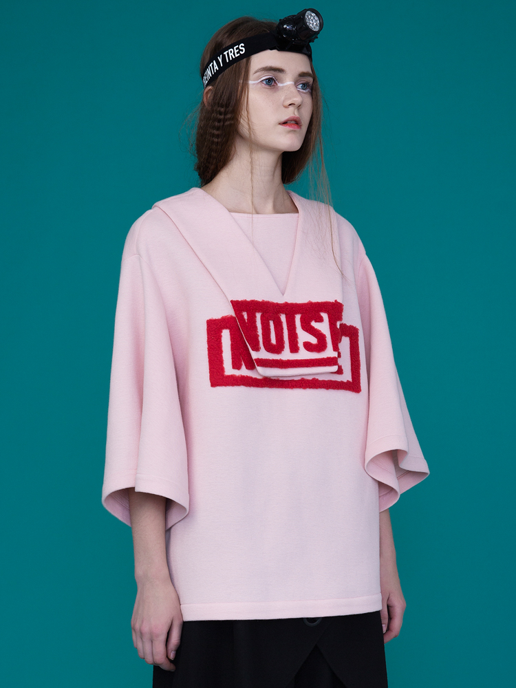 3D PATTERN NOISE BOXY TOP_PINK