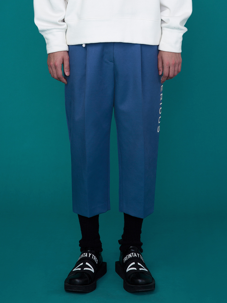SERIOUS BAGGY PANTS _ MUD BLUE