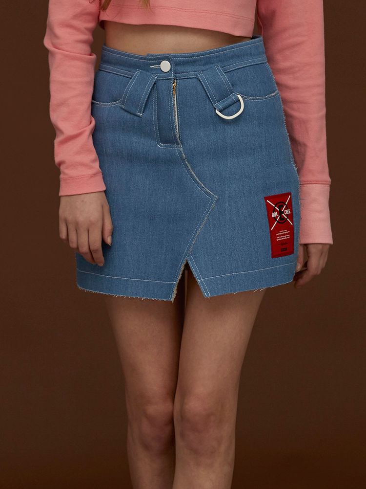 [70%]LINING DENIM SKIRT_LIGHT BLUE