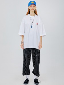 [20%]DMCRS boarding graphic T-shirts_white