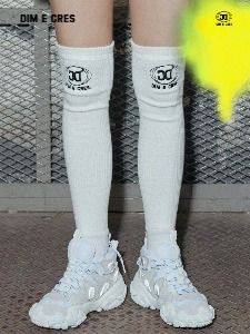 [DIM. E CRES.] BULKY KNEE HIGH SOCKS_WHITE