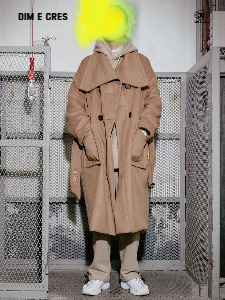 [DIM. E CRES.] MAX WOOL COAT_BROWN