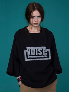 3D PATTERN NOISE BOXY TOP_BLACK